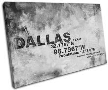 Dallas Texas USA City Typography - 13-2114(00B)-SG32-LO